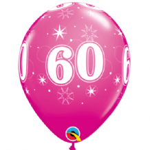 60 Sparkle Pink - 11 Inch Balloons 6pcs
